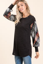 Load image into Gallery viewer, Plaid Ragland Tunic