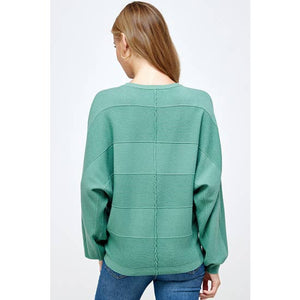 Teal Dolman Sweater