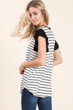 Load image into Gallery viewer, Black Ruffle Sleeve Top