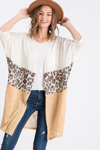 Load image into Gallery viewer, Oatmeal Leopard Cardigan