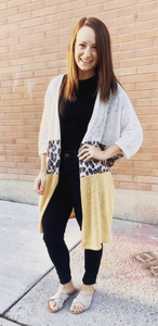 The Piccadilly | Oatmeal Leopard Cardigan