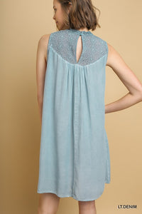 Sleeveless Powder Blue Dress