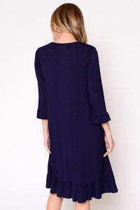 Navy Blue Midi Dress
