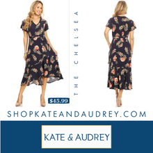 Load image into Gallery viewer, Navy Floral Dress