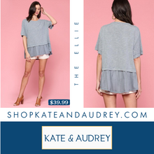 Load image into Gallery viewer, Denim Colored Round Neck Tee