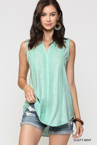Mint Sleeveless Tunic Top