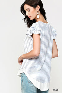 Blue Pin-Striped Tunic