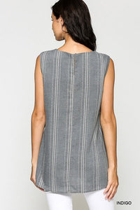 Indigo Sleeveless Top
