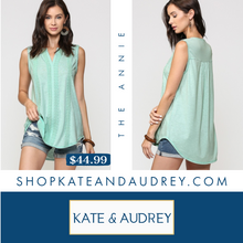 Load image into Gallery viewer, Mint Sleeveless Tunic Top