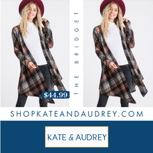 Load image into Gallery viewer, Plaid Open Front Cardigan