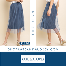 Load image into Gallery viewer, Steele Blue Skirt