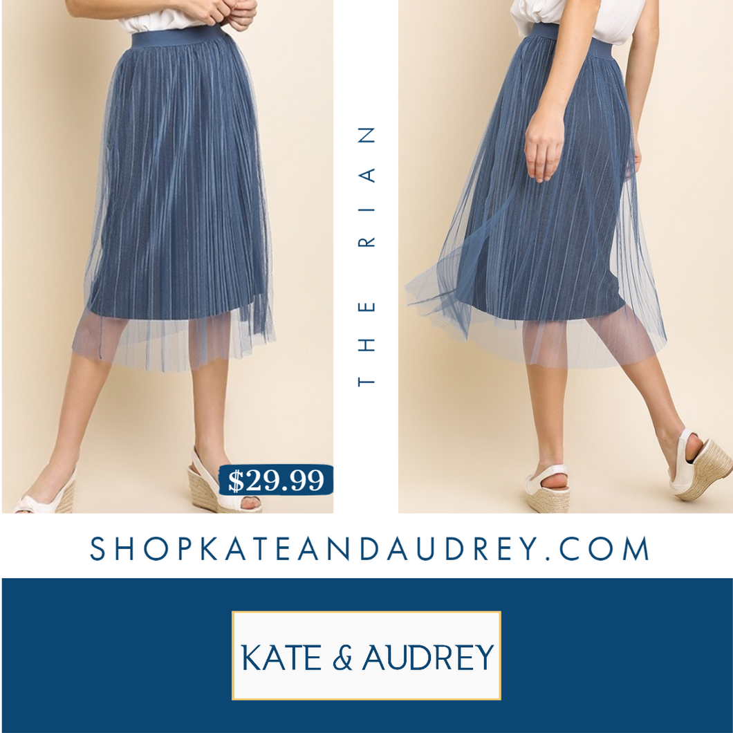 Steele Blue Skirt