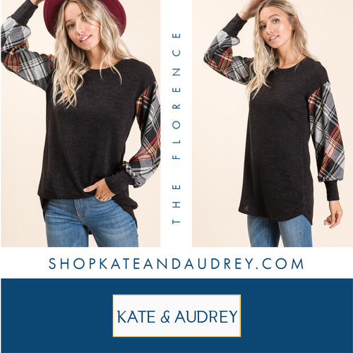 Plaid Ragland Tunic