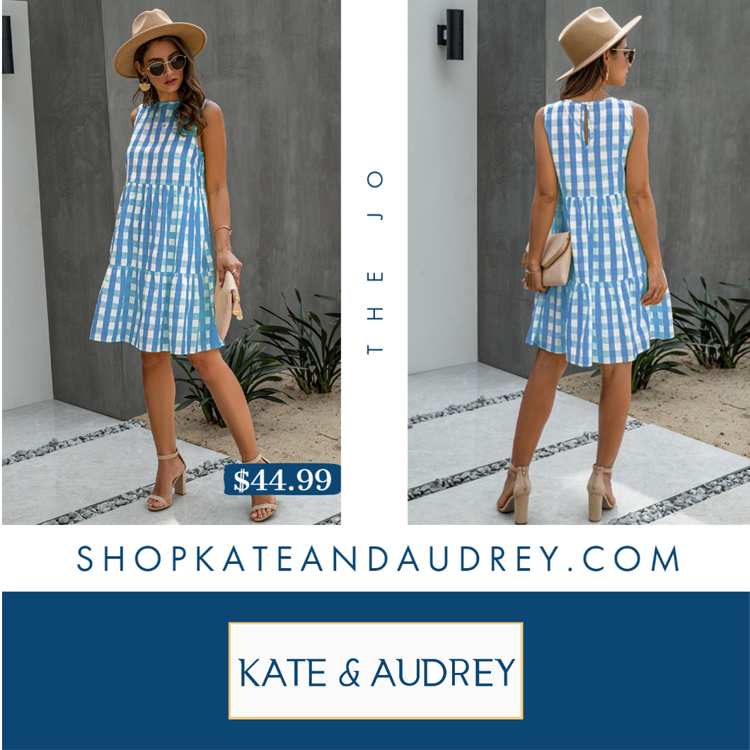 A-Line Plaid Midi Dress