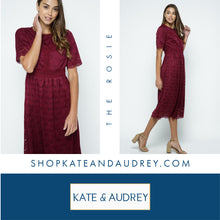 Load image into Gallery viewer, Burgundy Midi Dress