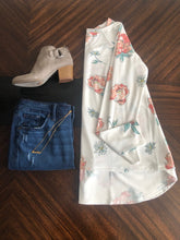 Load image into Gallery viewer, White Floral French Terry Top Instagram Flat Lay