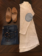 Load image into Gallery viewer, Heather Gray Knit Sweater Instagram Flat Lay
