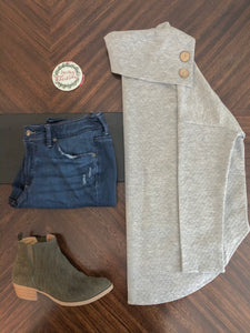 Instagram Flat Lay Oatmeal Grey Sweater