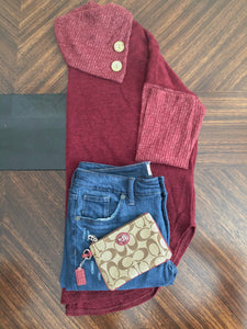 Maroon Cowl Neck Sweater Instagram Flat Lay