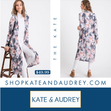 Load image into Gallery viewer, Floral Navy Cardigan
