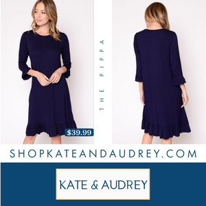 The Pippa | Navy Dress