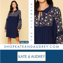 Load image into Gallery viewer, Navy Collar Dress