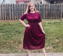 Load image into Gallery viewer, The Rosie | Burgundy Midi Dress