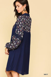 Navy Collar Dress