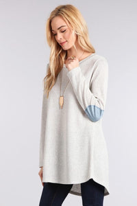 Heather Gray Knit Sweater