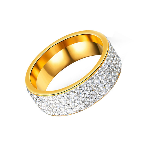 Women's Steel Couples Gold-Plated Rings Personalized Gifts Jewelry - Roshyshine