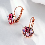 Gold European and American Fashion Dazzle Eye Round Earrings for Women - Roshyshine
