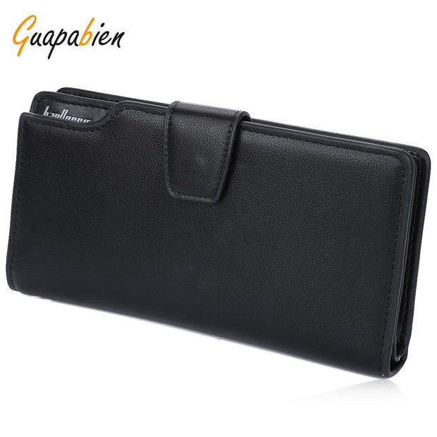Guapabien Hasp Zipper Multi Functional Card Money Photo Vertical Wallet for Men - Roshyshine