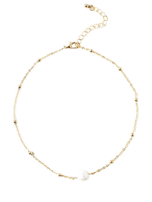 Faux Pearl Collarbone Necklace For Women - Roshyshine