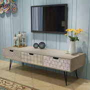 TV Cabinet with 3 Drawers 120 x 40 x 36cm with Free Shipping-VidaXL - Roshyshine