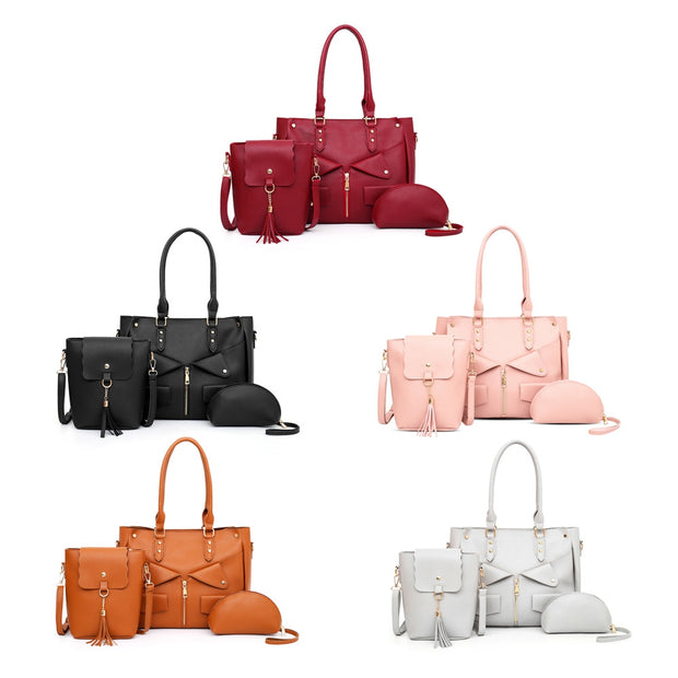 3pcs PU Leather Handbag Crossbody Bag for Women