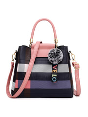 Color Block Print Tote Women handBags Set - Roshyshine
