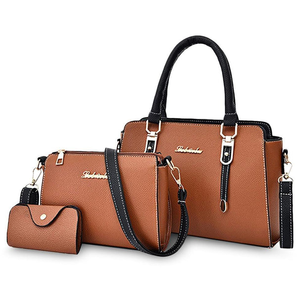 3PCS Women Handbag Set - Roshyshine