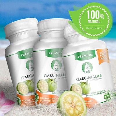 GARCINIA CAMBOGIA 100% Pure Plant Fruit Extract (3 PACK) For Natural Weight Loss Supplement - Roshyshine