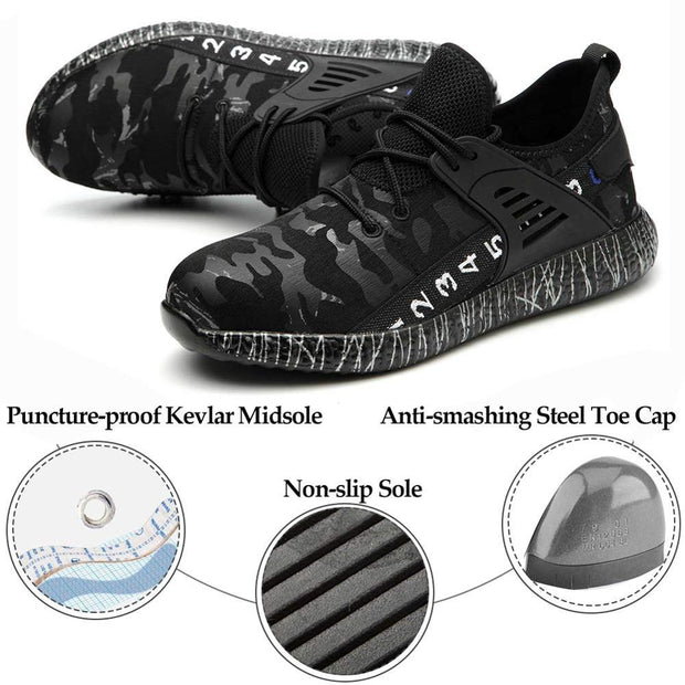 SUADEEX Dropshipping Men Women Work Safety Shoes Puncture Proof Work Construction Indestructible Shoes - Roshyshine