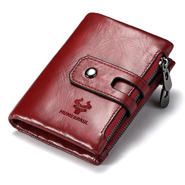 Free Engraving Name Genuine Leather Women Wallet Female Coin Purse Small Card Holder PORTFOLIO Red Portomonee Lady Phone Number