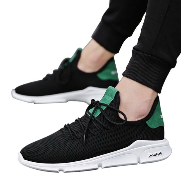 Men Sneakers No-slip Vulcanize Shoes, Air Mesh Lace Up Wear-resistant Casual running shoes