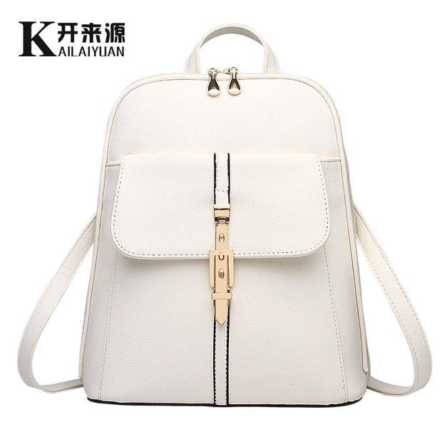 Genuine leather Women backpack 2020 New wave of female students backpack spring and summer fashion casual bag