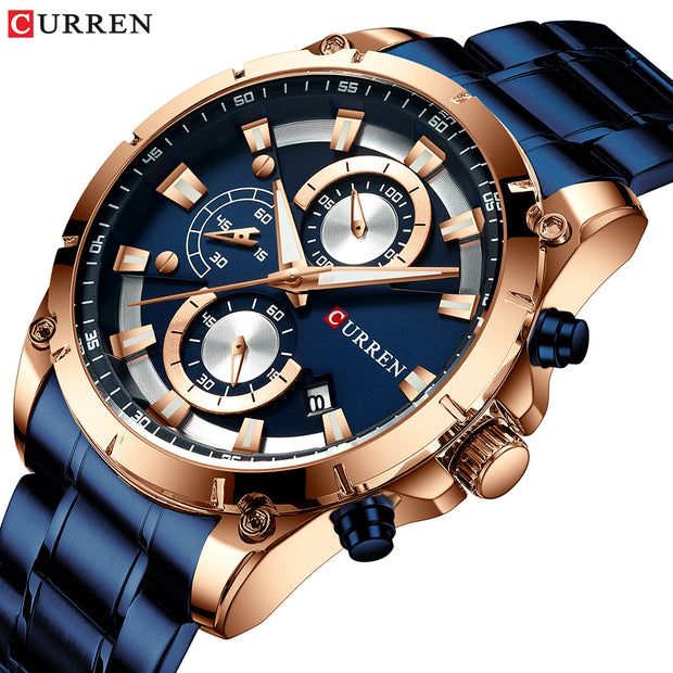 CURREN Creative Design Watches Men Luxury Quartz Wristwatch with Stainless Steel Chronograph Sport Watch Male Clock Relojes