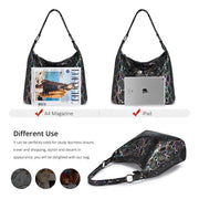 REALER shoulder bags for women 2019 genuine leather luxury handbag designer large Hobos bag with tassel animal prints women bag