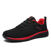 Men Comfortable Walking Shoes, Lightweight Sneakers Black Footwear Men Lace Up Running Shoes Men
