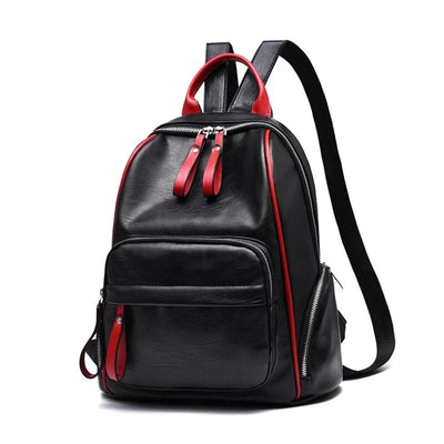 100% Genuine leather Women Backpack 2019 New Lady Student Backpack Fashion Casual Korean Backpack shoulder bag