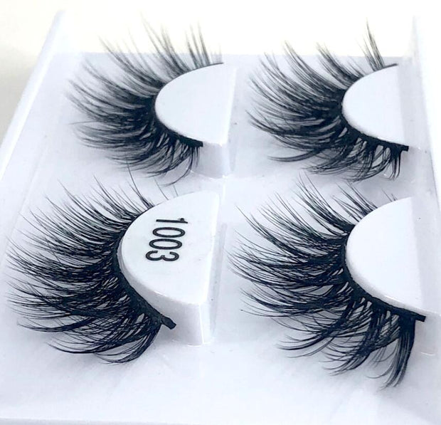 New 5 /8 pairs natural false eyelashes fake lashes long makeup 3d mink lashes eyelash extension mink eyelashes for beauty 03