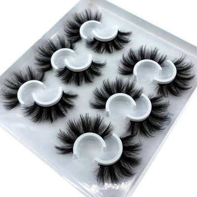 2/6/12 pairs 10-25mm fake Eyelashes 100% Mink Eyelashes Mink Lashes Natural Dramatic Volume Eyelashes Extension False Eyelashes