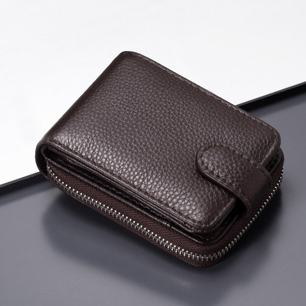 SHUJIN Leather Card Wallet Men Business Bank Card Holder Thin Credit Card Case Convenient Small Cards Pack Cash Pocket 2019 NEW