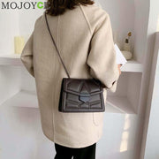 Casual Women Messenger Bag PU Leather Rivet Fashion Shoulder Crossbody Shopping Chain Ladies Handbag